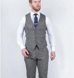 Torre Grey Donnegal tweed waistcoat