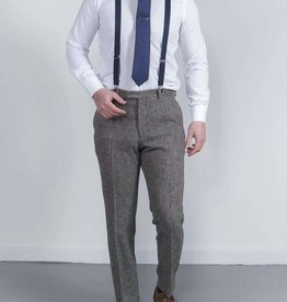 Torre Grey Donnegal tweed trouser