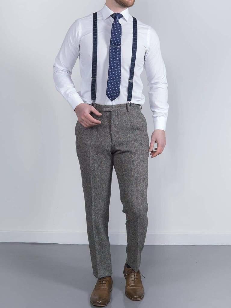 Torre Grey Donnegal tweed trouser