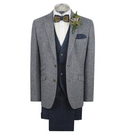 Torre Blue Donegal tweed jacket