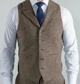 Torre Taupe Donegal tweed waistcoat
