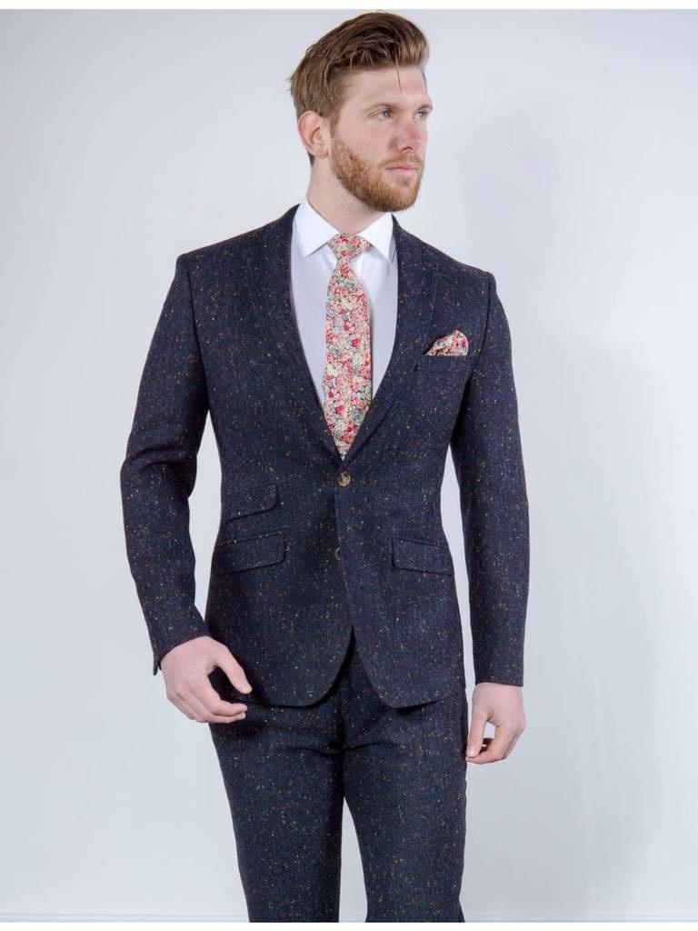 Torre Navy Donegal tweed jacket