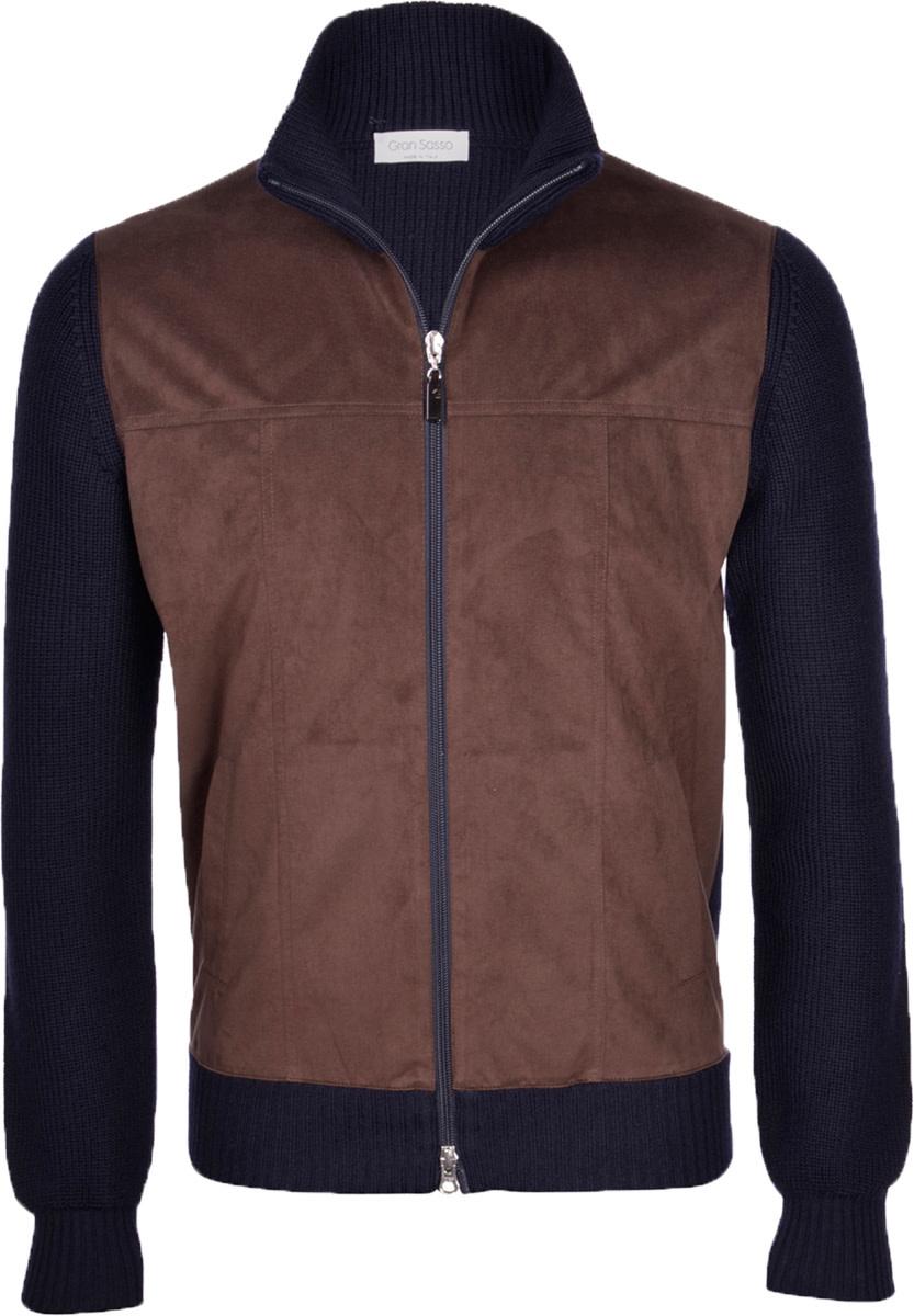 Gran Sasso Wool & Alcantra Full Zip