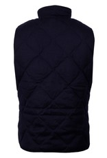 Stenstroms Navy Diagonal Quilted Gilet