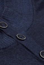 Stenstroms Navy Blue Garment Dyed Mock Neck