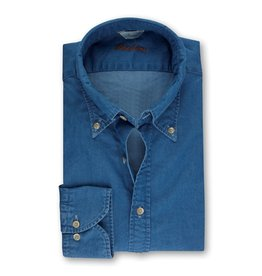Stenstroms Button Down Denim Shirt - Fitted body