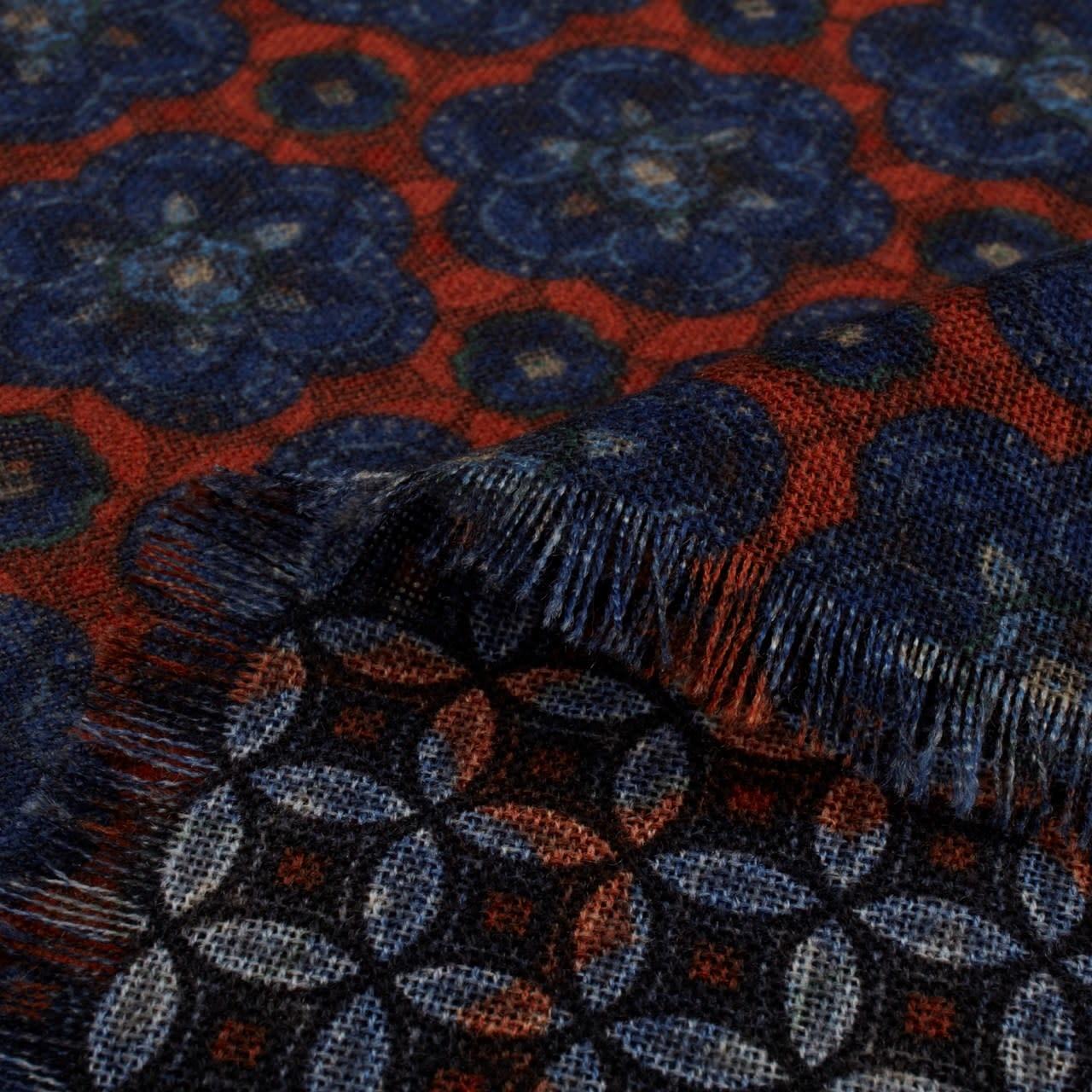 Stenstroms Geometric Pattern Wool Scarf