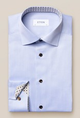 Eton Signature twill with Geometric Trim