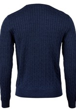 Stenstroms Crew Neck Cable Knit Navy