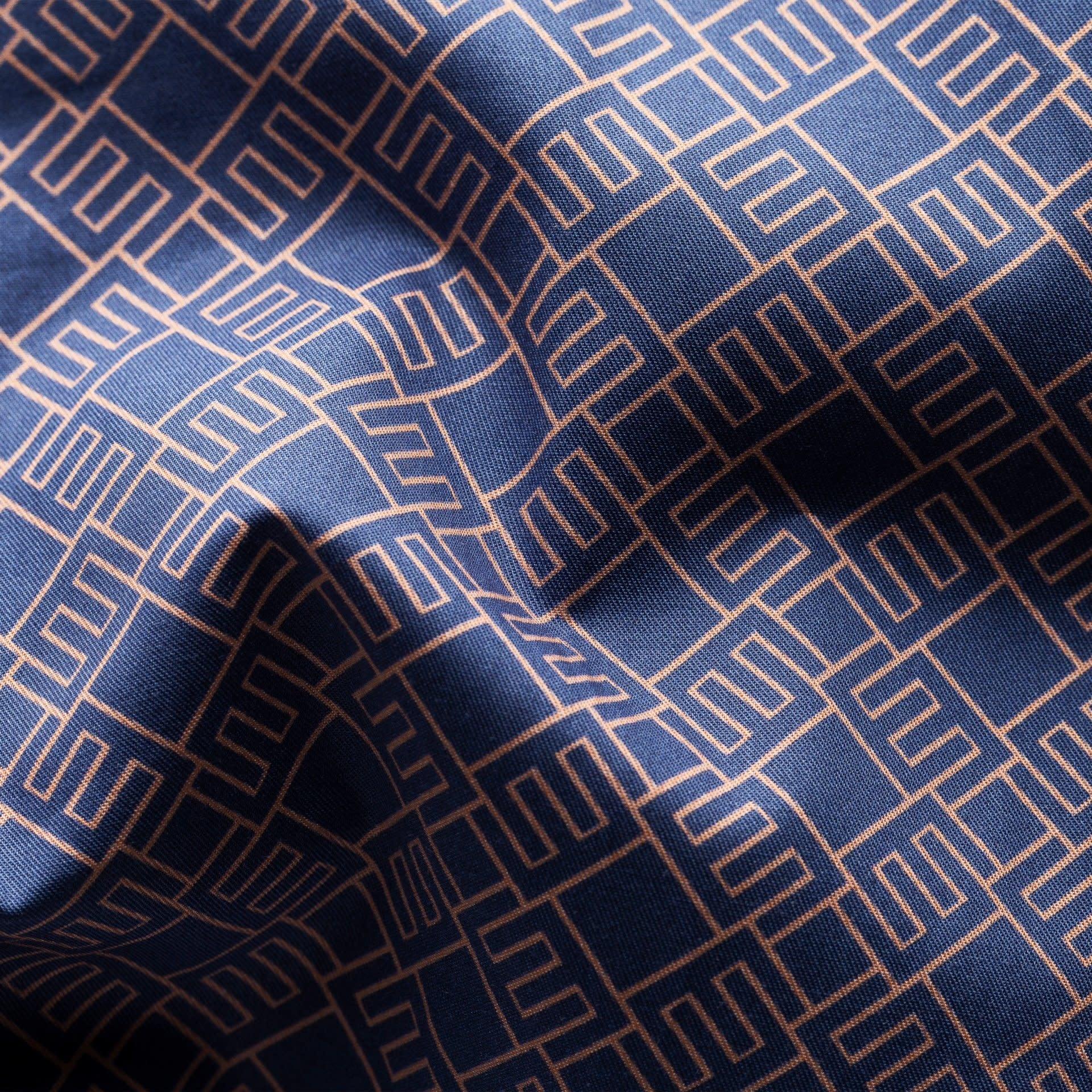 Eton Navy Double E logo shirt