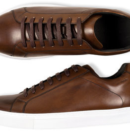 Roy Robson Hand Coloured Leather Sneaker - Chocolate