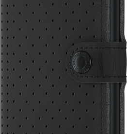 Secrid Perforated Black Mini Wallet