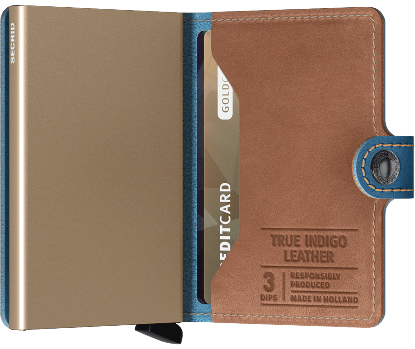 Secrid Indigo/sand Mini wallet