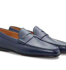 Stemar Bologna -  Navy Blue Calfskin Loafer