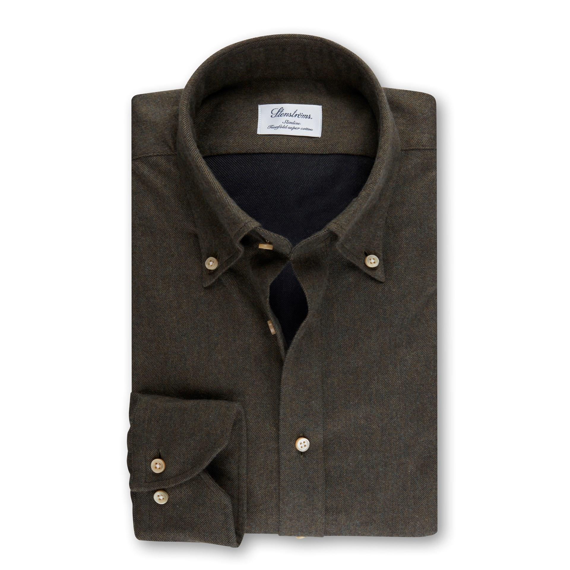 Stenstroms Luxury Flannel Shirt - Fitted