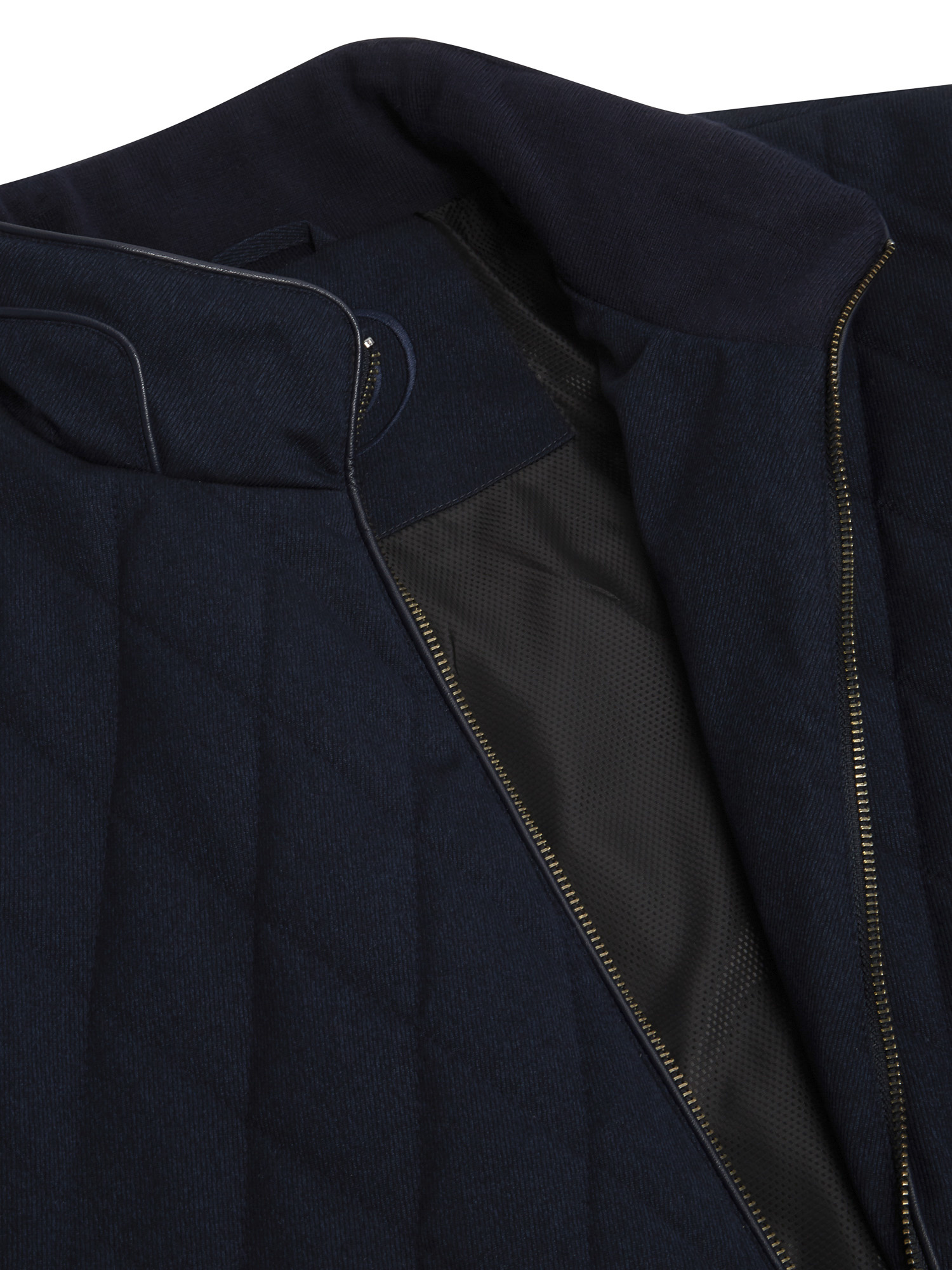 Navy Quilted Diamond Jacket