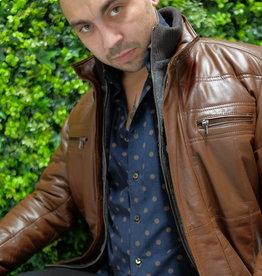 Smarty leather 3/4 Length Tan Soft Napa Leather Jacket