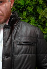 Smarty leather Black Perforated Napa Leather Quilted Jacket