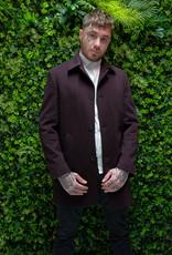 Roy Robson Wool/cashmere slim fit dark red coat