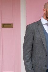 Roy Robson pure wool grey Jacket with blue check