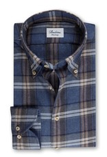 Stenstroms Blue Checked Flannel Fitted Body