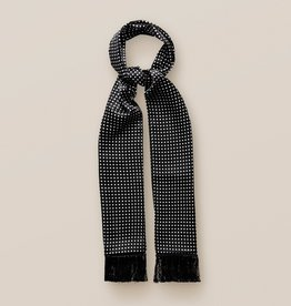 Eton Black Polka Dot Silk Scarf