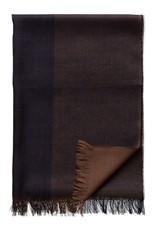 Eton Brown Merino Wool Scarf