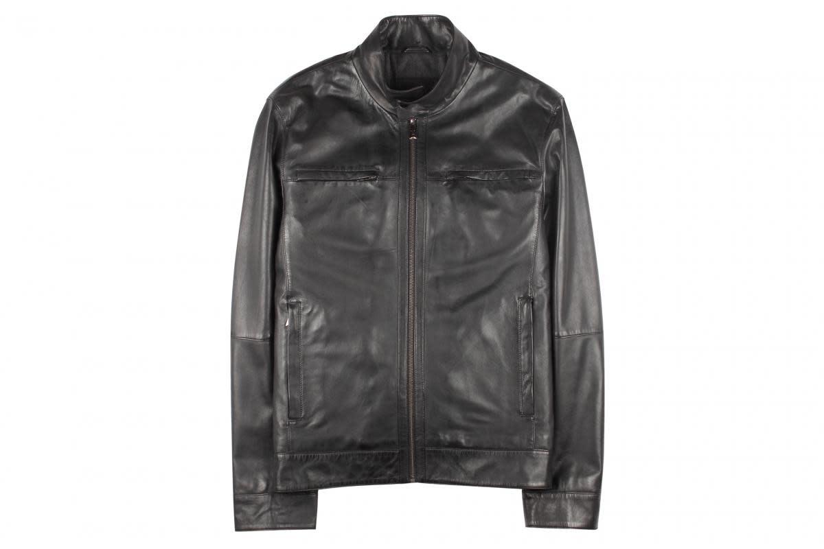 Torras Black Soft Napa Leather Jacket