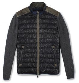 Torras Quilted Leather Jacket with Knitted sleeve