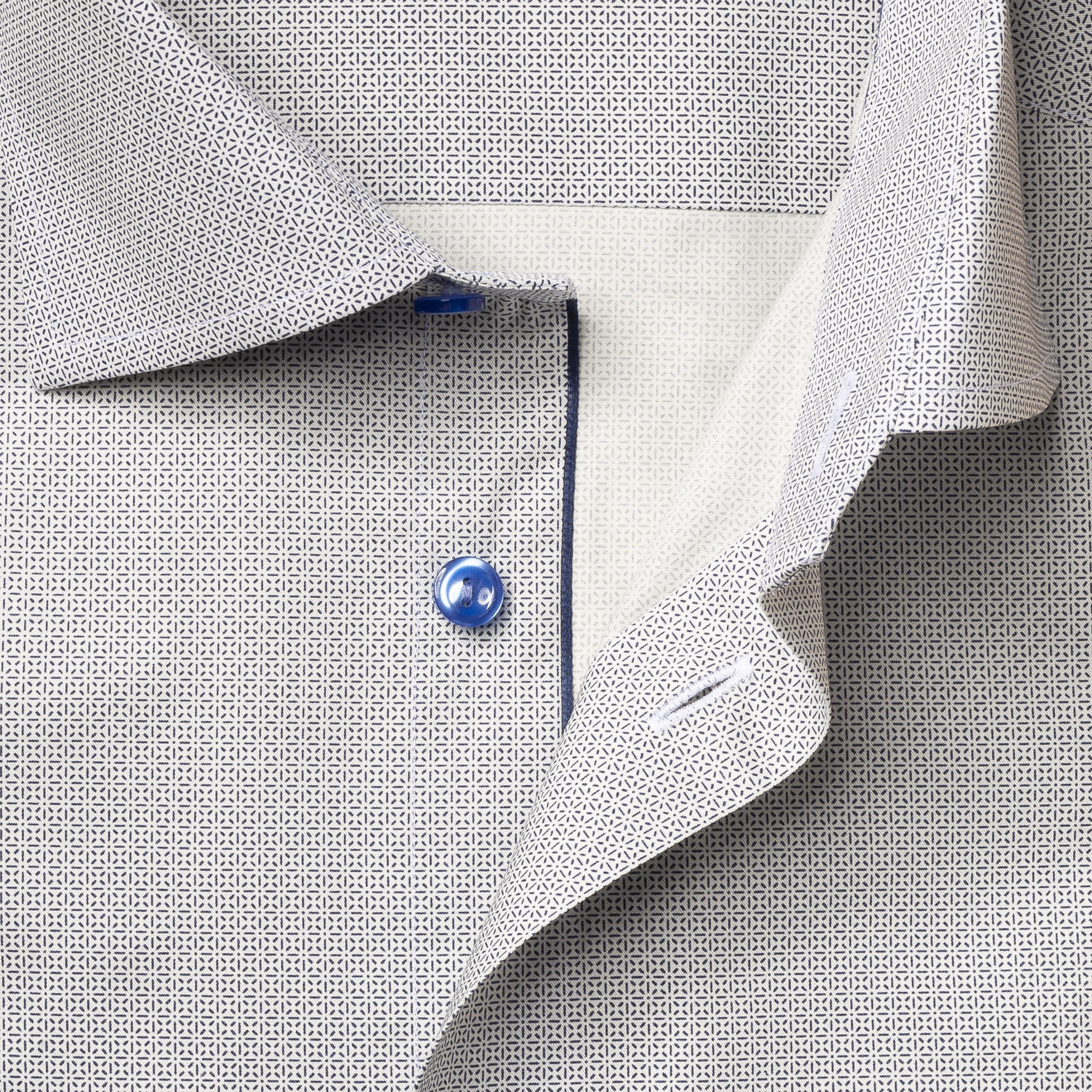 Eton Blue Micro Pattern fine twill shirt