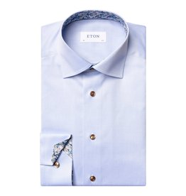 Eton Pale Blue twill with daisy floral trim