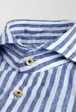 Stenstroms Striped Linen Slimline Shirt