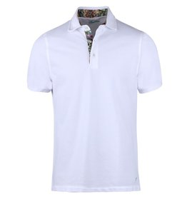 Stenstroms Pure Cotton Polo shirt with floral trim