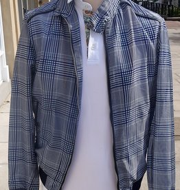 Torras Lightweight Checked Bomber with leather trim