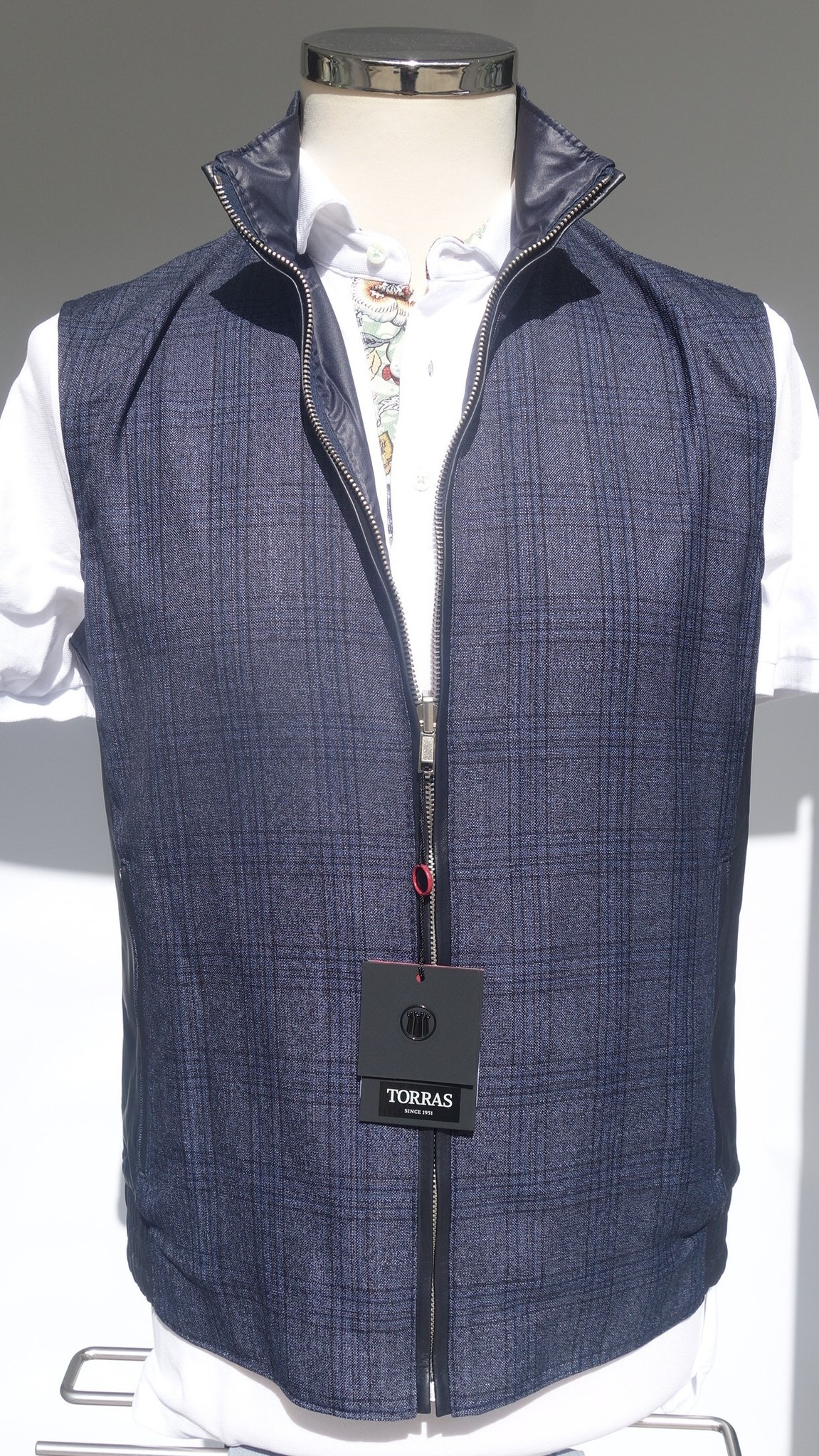 Torras Reversible fabric and leather vest