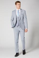 Remus Uomo Sky Blue 3 piece with check waistcoat