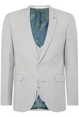 Remus Uomo Light Grey 3 piece with pow check waistcoat