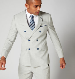 Remus Uomo Grey Double breasted 2 piece with Blue button