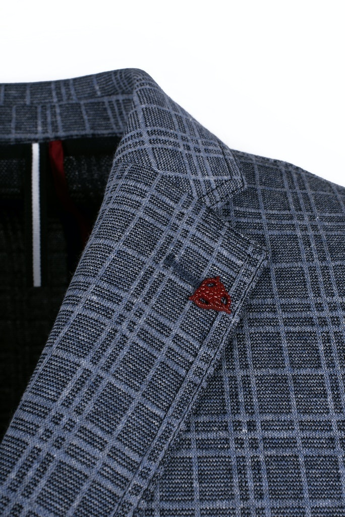 Roy Robson Textured Check Jersey Stretch jacket