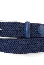 Robert Charles Woven Elastic Belt - Navy