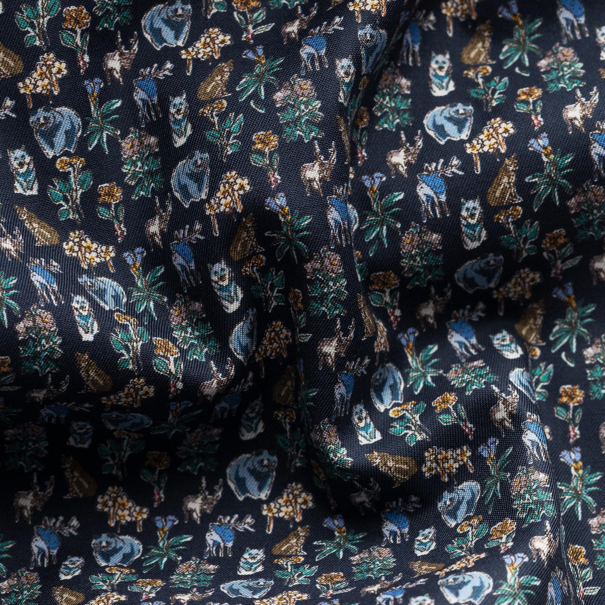 Eton Navy wildlife print