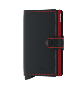 Secrid Matte Black/Red Mini Wallet