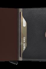 Secrid miniwallet saffiano brown