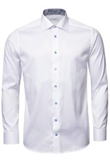 Eton Signature Twill with trim and contrast button