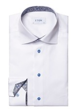 Eton Signature twill with trim and contrast - slim