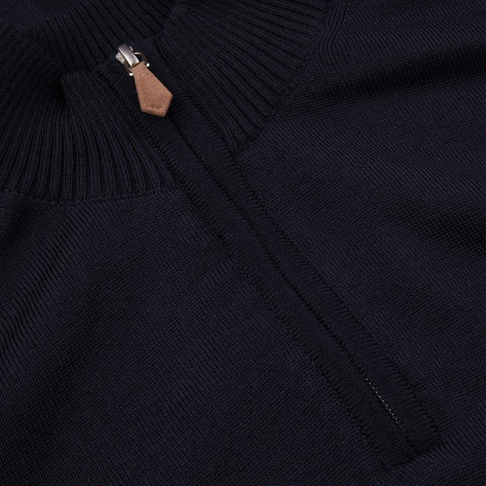 Stenstroms Half zip merino black