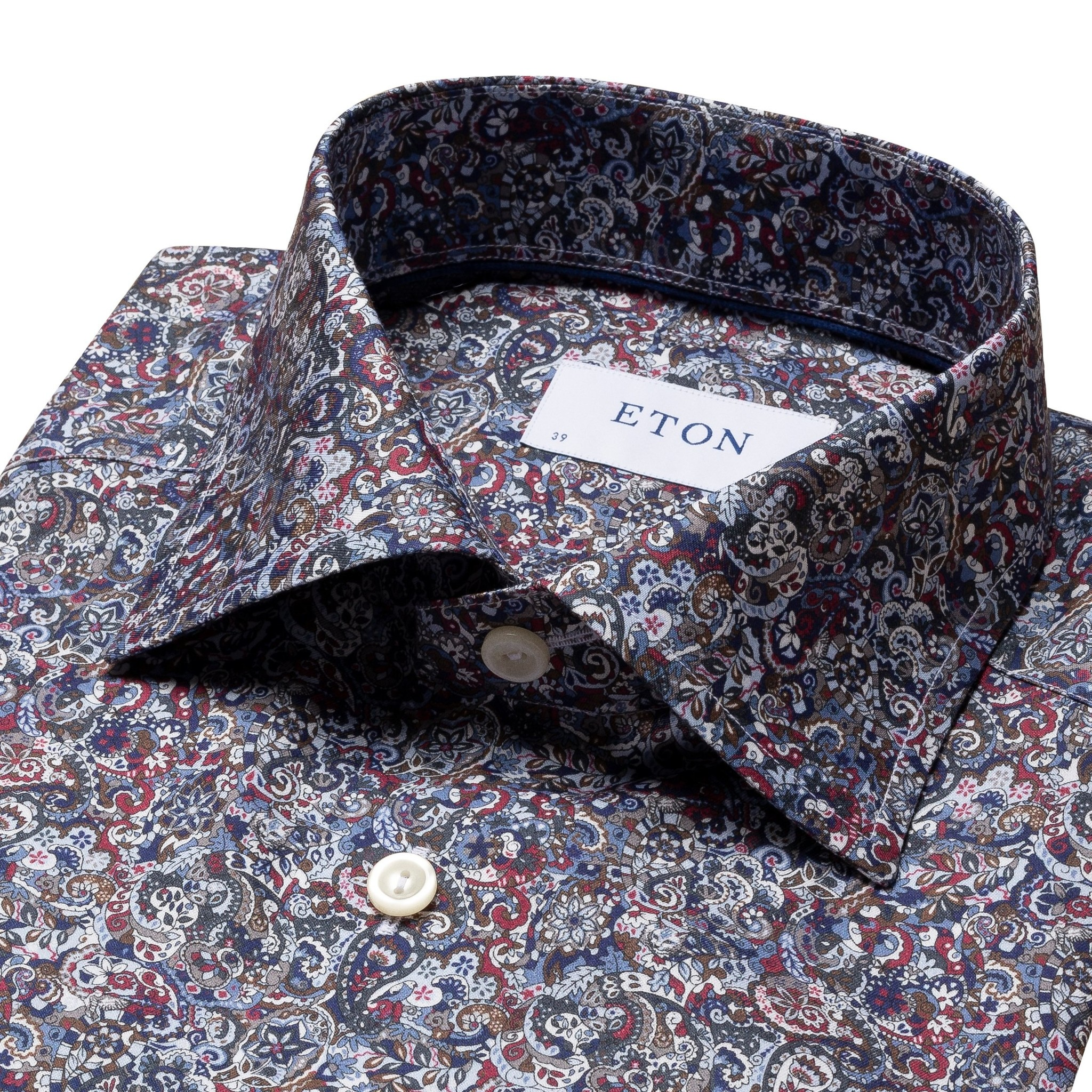 Eton Signature twill with red/blue paisley