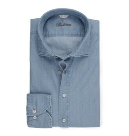 Stenstroms Chambray washed denim shirt