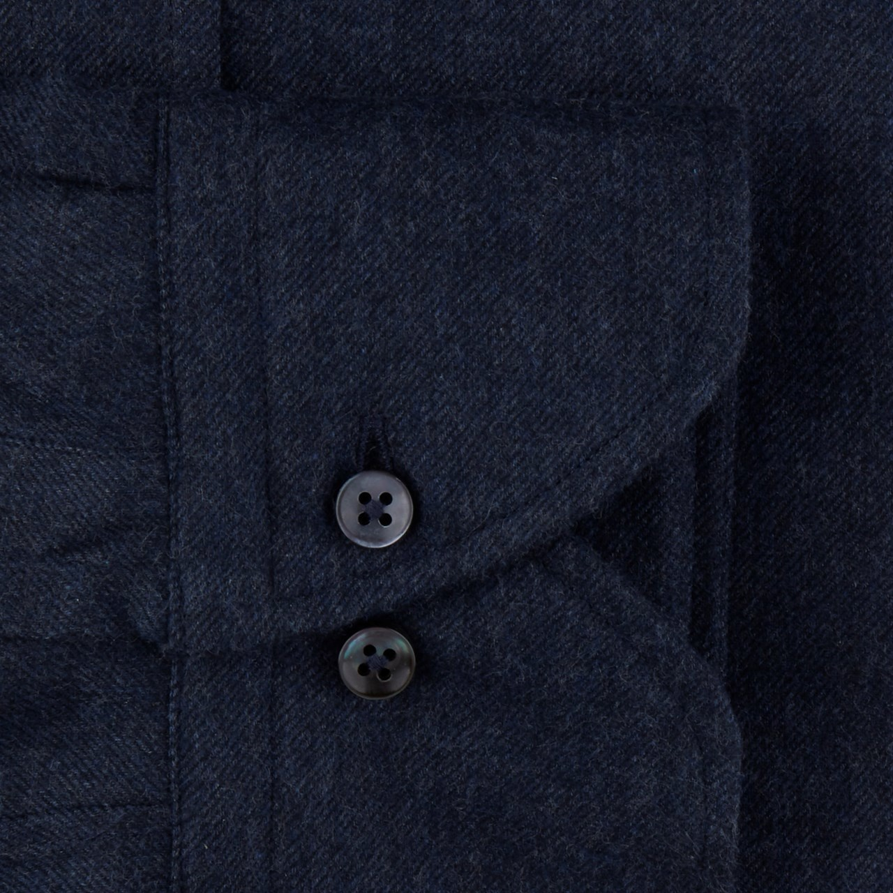 Stenstroms Luxury Flannel Shirt - Navy