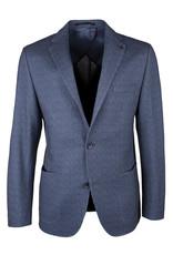 Roy Robson Blue Herringbone Jersey Jacket